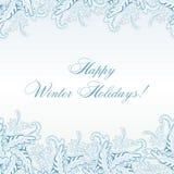 Modèle sans couture de Paisley d'hiver Photographie stock libre de droits