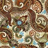 Modèle sans couture de Paisley, papier peint floral Image stock