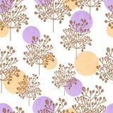 Modèle sans couture de palette d'aquarelle avec la fleur Illustration Stock