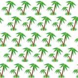 Modèle sans couture de palmier Photographie stock