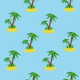 Modèle sans couture de palmier Photos libres de droits