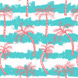 Modèle sans couture de palmier Photo libre de droits