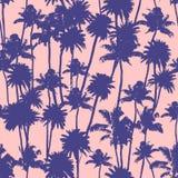 Modèle sans couture de palmiers de vecteur illustration stock