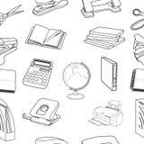 Modèle sans couture de papeterie de vecteur Image stock