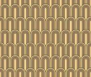 Modèle sans couture de papier peint de vintage d'Art Deco Photographie stock libre de droits