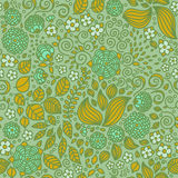 Modèle sans couture de papier peint floral de griffonnage Images stock