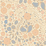 Modèle sans couture de papier peint floral de griffonnage Photos libres de droits