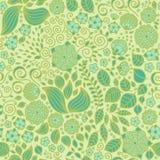 Modèle sans couture de papier peint floral de griffonnage Photo stock