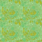 Modèle sans couture de papier peint floral de griffonnage Photographie stock