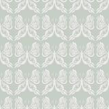 Modèle sans couture de papillon - blanc sur le beige/Gray Background - illusion optique Photographie stock