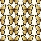 Modèle sans couture de papillon d'or Conception de luxe, bijoux chers Illustration Libre de Droits