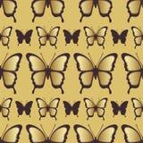 Modèle sans couture de papillon d'or Conception de luxe, bijoux chers Illustration Stock