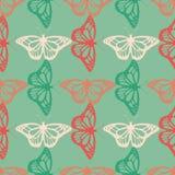 Modèle sans couture de papillon réaliste de vecteur Photographie stock