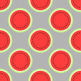 Modèle sans couture de pastèque, fond illustration stock