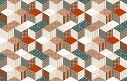 Modèle sans couture de patchwork avec des étoiles édredon Photos libres de droits
