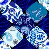Modèle sans couture de patchwork avec des fleurs Images stock