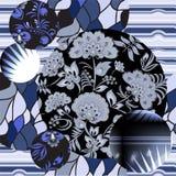 Modèle sans couture de patchwork avec des fleurs - actions Image stock