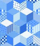 Modèle sans couture de patchwork d'hiver avec des étoiles Image libre de droits