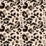 Modèle sans couture de peau animale à la mode de léopard Brown et couleurs beiges illustration stock