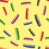 Modèle sans couture de peignes colorés Photo libre de droits