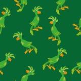 Modèle sans couture de perroquet Photo libre de droits