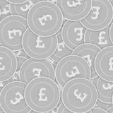 Modèle sans couture de pièces en argent de livre britannique Splen illustration stock