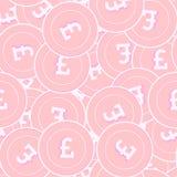 Modèle sans couture de pièces de monnaie en cuivre de livre britannique Emoti illustration de vecteur