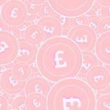 Modèle sans couture de pièces de monnaie en cuivre de livre britannique Exqui illustration stock