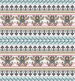 Modèle sans couture de pixel aztèque Idéal pour imprimer sur le tissu, papier, web design illustration stock
