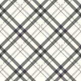 Modèle sans couture de pixel de plaid blanc noir gris de contrôle Illustration de vecteur illustration stock