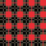 Modèle sans couture de plaid de buffle rouge et noir Fond à carreaux de texture de tissu illustration libre de droits