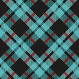 Modèle sans couture de plaid de contrôle de Buffalo bleu-clair et noir - seamles de plaid de flanelle de contrôle de buffle bleu- illustration libre de droits