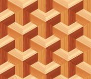 Modèle sans couture de plancher du parquet 3d Image libre de droits