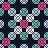 Modèle sans couture de point de polka Fond géométrique Points, cercles et boutons illustration de vecteur