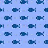 Modèle sans couture de poissons de vecteur Image stock
