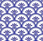 Modèle sans couture de porcelaine illustration stock