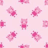 Modèle sans couture de porcs mignons Photographie stock libre de droits