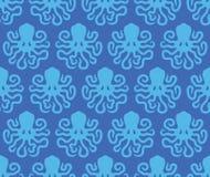 Modèle sans couture de poulpe image stock