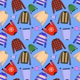 modèle sans couture de pullover d'isolement sur le fond noir Tissu d'impression, modèle de papier d'emballage Illustration Images stock