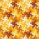 Modèle sans couture de puzzle denteux de couleurs d'automne ou de camouflage illustration de vecteur