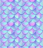 Modèle sans couture de queue olographe de sirène Décor e de carte de sirène illustration libre de droits