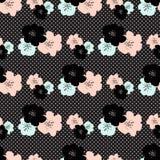 Modèle sans couture de répétition avec des couleurs abstraites sur le point de polka gris b image stock