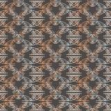 Modèle sans couture de répétition de feuille géométrique de dentelle Illustration de vecteur illustration stock