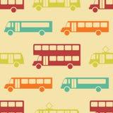 Modèle sans couture de rétro autobus Photographie stock libre de droits