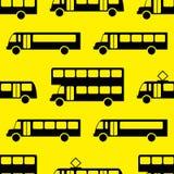 Modèle sans couture de rétro autobus Photos libres de droits