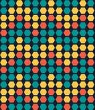 Modèle sans couture de rétro hexagone géométrique coloré Photographie stock libre de droits