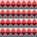 Modèle sans couture de rétro zigzag Photo libre de droits