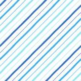 Modèle sans couture de rayures tirées par la main parallèles de diagonale Photographie stock
