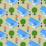 Mod?le sans couture de Real Estate d'agent immobilier r?ussi illustration stock