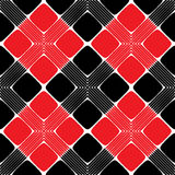 Modèle sans couture de rectangle rouge et noir illustration stock